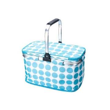 Promis Strandtáska Hűtőtáska Bevásárlótáska Kék Pöttyös
