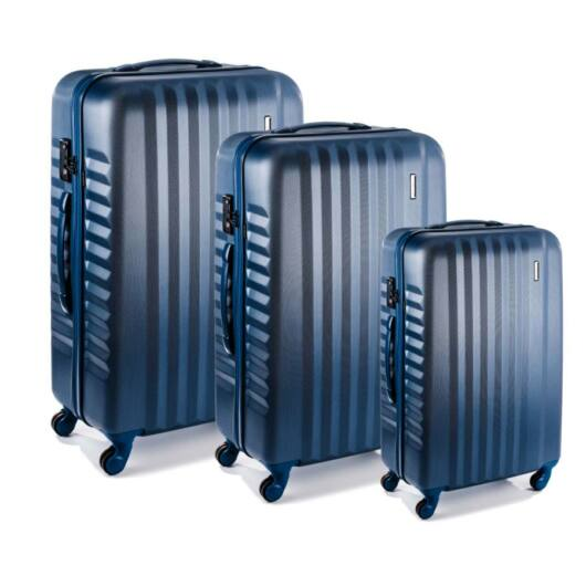 March keményfedeles bőröndszett Ribbon kék