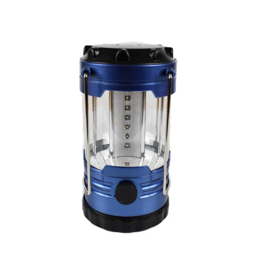 12 LED-es Kempinglámpa Iránytűvel Kék Nagy Méret
